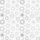 Bezszwowy wzór z popielatymi gwiazdami na białym tle Może używać dla tapety, deseniowe pełnie, tkanina, strona internetowa Zdjęcie Royalty Free