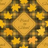 Bezszwowy wzór z powrotem szkoła Zdjęcie Stock