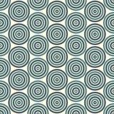 Bezszwowy wzór z prostymi geometrycznymi formami Częstotliwi okręgi tapetowi Abstrakcjonistyczny tło z round vortexes Obraz Royalty Free