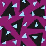 Bezszwowy wzór z przypadkowo rozrzuconymi trójbokami Elegancki geometryczny druk ilustracji