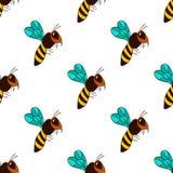 Bezszwowy wzór z pszczołą - 3 Zdjęcie Royalty Free