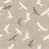 Bezszwowy wzór z ptakami royalty ilustracja