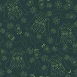 Bezszwowy wzór z pulowerami, mitynki Obrazy Royalty Free