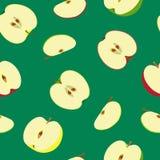 Bezszwowy wzór z różnymi połówkami jabłka również zwrócić corel ilustracji wektora Zdjęcie Stock