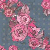 Bezszwowy wzór z różami Zdjęcia Stock