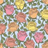 Bezszwowy wzór z różami Zdjęcie Stock