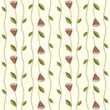 Bezszwowy wzór z różami i winogradami Zdjęcie Stock