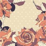 Bezszwowy wzór z róża kwiatami. ilustracji