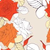 Bezszwowy wzór z róża kwiatami. Zdjęcia Royalty Free