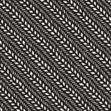 Bezszwowy wzór z ręki rysującymi muśnięć uderzeniami Atramentu doodle ilustracja Geometryczny monochromatyczny wektoru wzór Obraz Royalty Free