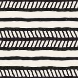 Bezszwowy wzór z ręki rysującymi muśnięć uderzeniami Atramentu doodle ilustracja Geometryczny monochromatyczny wektoru wzór Zdjęcia Royalty Free