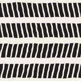 Bezszwowy wzór z ręki rysującymi muśnięć uderzeniami Atramentu doodle ilustracja Geometryczny monochromatyczny wektoru wzór Zdjęcie Royalty Free