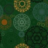 Bezszwowy wzór z rangoli projektami dla Diwali Zdjęcie Royalty Free