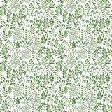 Bezszwowy wzór z roślinami Obrazy Royalty Free