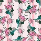 Bezszwowy wzór z roczników kwiatami Obrazy Royalty Free