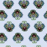 Bezszwowy wzór z roczników ornamentami ilustracja wektor
