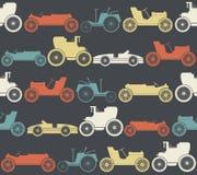 Bezszwowy wzór z roczników samochodami Zdjęcia Royalty Free