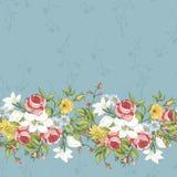 Bezszwowy wzór z roczników Wildflowers Fotografia Stock