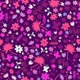 Bezszwowy wzór z słodkimi kwiecistymi elementami Zdjęcie Royalty Free
