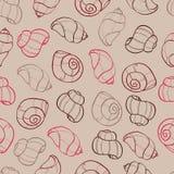 Bezszwowy wzór z seashell Fotografia Stock