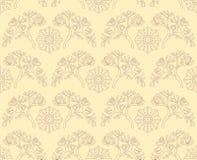 Bezszwowy wzór z seashells i algami ilustracji