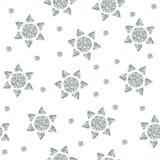 Bezszwowy wzór z srebrem gra główna rolę od kropek i trójboków Obraz Royalty Free