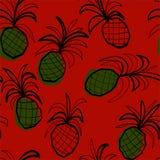 Bezszwowy wzór z stilized ananasami Obraz Royalty Free