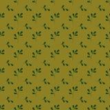 Bezszwowy wzór z stylizowanymi gałąź na żółtym tle Zdjęcia Stock