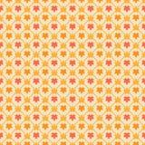 Bezszwowy wzór z stylizowanymi klonowymi liśćmi Obrazy Royalty Free
