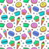 Bezszwowy wzór Z Sweets-04 ilustracji