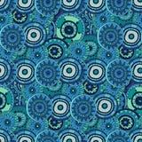 Bezszwowy wzór z sylwetkami orientalni mandalas Fotografia Stock