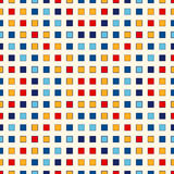 Bezszwowy wzór z symmetric geometrycznym ornamentem Abstraktów kwadratów częstotliwy jaskrawy tło Mozaiki tapeta Zdjęcia Stock