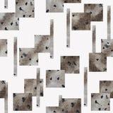 Bezszwowy wzór z szarymi geometrycznymi kształtami na białym tle royalty ilustracja