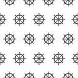 Bezszwowy wzór z szarymi rudders Nautyczny temat Obraz Royalty Free