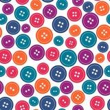 Bezszwowy wzór z szyć guziki, ilustracja Obraz Stock
