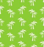Bezszwowy wzór z Tropikalnymi drzewkami palmowymi Obrazy Royalty Free