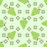 Bezszwowy wzór z winogronami pędnymi Zdjęcie Stock