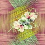 Bezszwowy wzór z wiosna kwiatami Zdjęcia Royalty Free