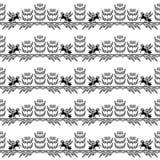 Bezszwowy wzór z wychowem Pegasus Obraz Royalty Free