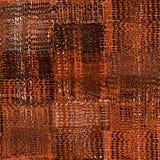 Bezszwowy wzór z wyplata grunge paskujących zygzakowatych prostokątnych elementy w brown, czarny, biel kolory ilustracji
