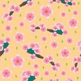 Bezszwowy wzór z wywodzonymi kwiatów motywami Deseniowy tło z okwitnięcie motywów ornamentem ilustracji