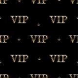 Bezszwowy wzór z złotym tekstem VIP royalty ilustracja