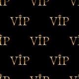 Bezszwowy wzór z złotym tekstem VIP ilustracji