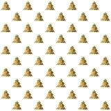 Bezszwowy wzór z złotymi choinkami Obrazy Stock