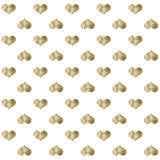 Bezszwowy wzór z złotymi sercami Zdjęcie Stock