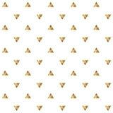 Bezszwowy wzór z złotymi trójbokami Fotografia Royalty Free