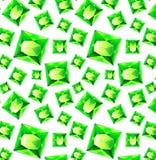 Bezszwowy wzór z zielonym cennym klejnotu szmaragdem w mieszkanie stylu Bezszwowy klejnotu wzór Szmaragdowy tło Płaski projekta w Zdjęcie Royalty Free