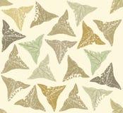 Bezszwowy wzór z zielonymi bluszczy liśćmi Obraz Royalty Free