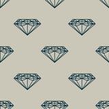 Bezszwowy wzór z zmrokiem - błękitni diamenty na popielatym tle ilustracja wektor