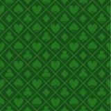 Bezszwowy wzór Zielony tkanina grzebaka stół Fotografia Stock